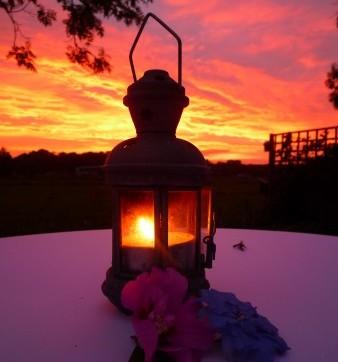 Surpriseparty zonsondergang